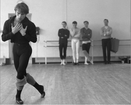 "Rudolf Nureyev rehearses for ""Marguerite and Armand"" at Covent Garden in Britain in 1963. Photo: Michael Peto, The University Of Dundee The Pet / SF"