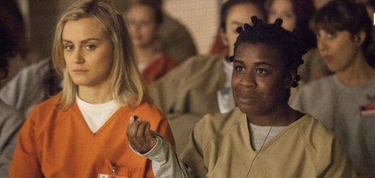 Actors Taylor Schilling and Uzo Aduba, Netflix