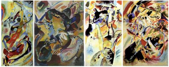 "Vasily Kandinsky. ""The Seasons"" Panels No. 1-4. 1914. Museum of Modern Art, New York."