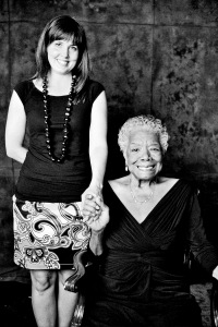 Dr Maya Angelou and me in her home in Winston Salem, NC in 2010. Photo by Bob Richman.