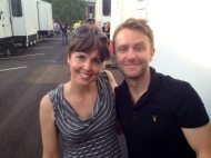 """""""Talking Dead"""" Chris Hardwick & me after the Georgia heat punched us in the face for 2 days, AMC"""